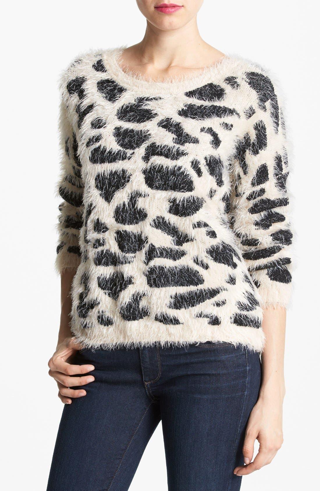 ,                             Animal Pattern Sweater,                             Main thumbnail 1, color,                             250