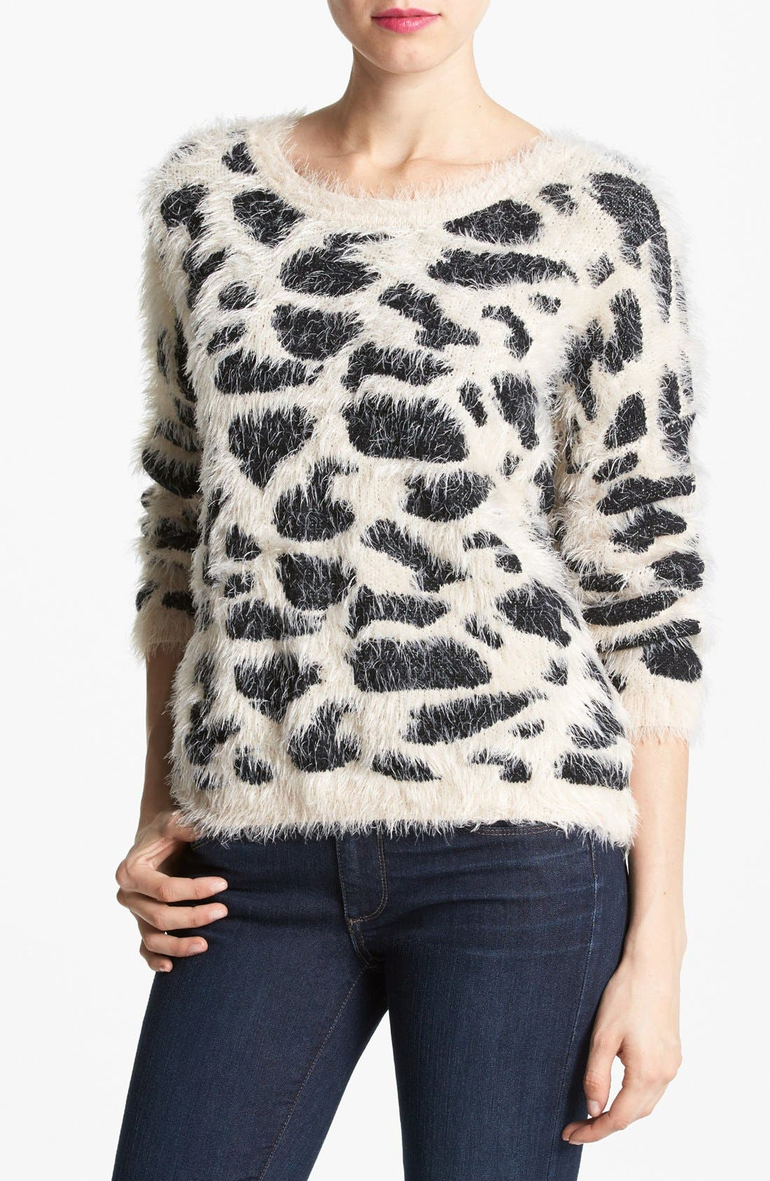 Animal Pattern Sweater, Main, color, 250