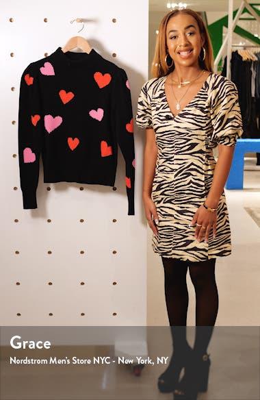 hearts mock neck sweater, sales video thumbnail