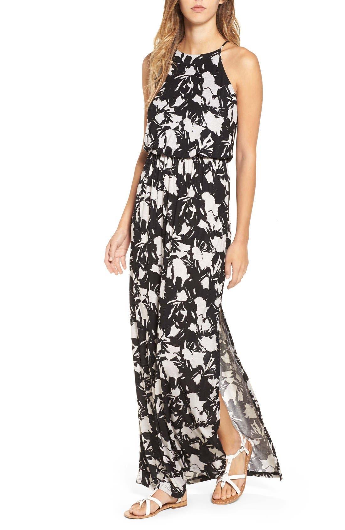 ,                             High Neck Maxi Dress,                             Alternate thumbnail 63, color,                             250