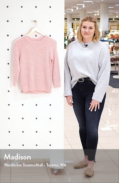 Ellie Cotton Blend Shaker Stitch Sweater, sales video thumbnail