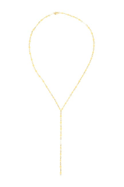 Image of KARAT RUSH 14K Yellow Gold Mirror Kite Chain Y-Drop Necklace