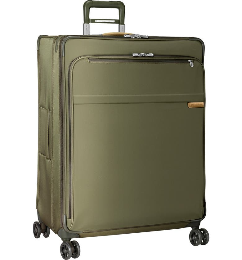 BRIGGS & RILEY 'Baseline' Extra Large 31-Inch Expandable Spinner, Main, color, OLIVE