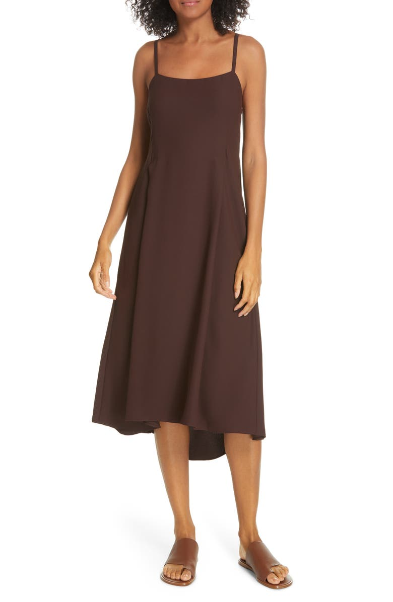 VINCE Strappy Tank Dress, Main, color, BLACK WALNUT