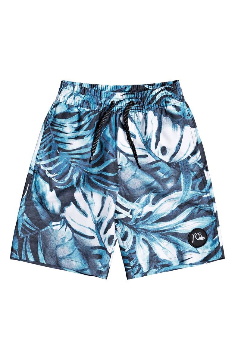 QUIKSILVER Highline Tropical Flow Board Shorts, Main, color, NEBULAS BLUE