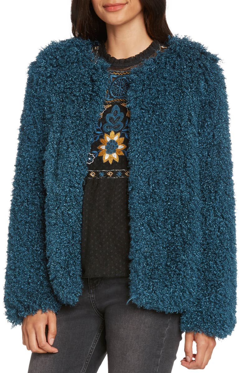 ZZDNU WILLOW & CLAY Willow & Clay Shaggy Faux Fur Jacket, Main, color, 398