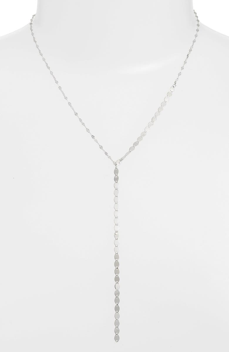 LANA JEWELRY 'Nude' Y-Necklace, Main, color, WHITE GOLD