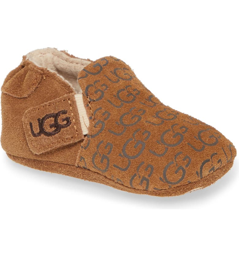 UGG<SUP>®</SUP> Roos Crib Shoe, Main, color, 219