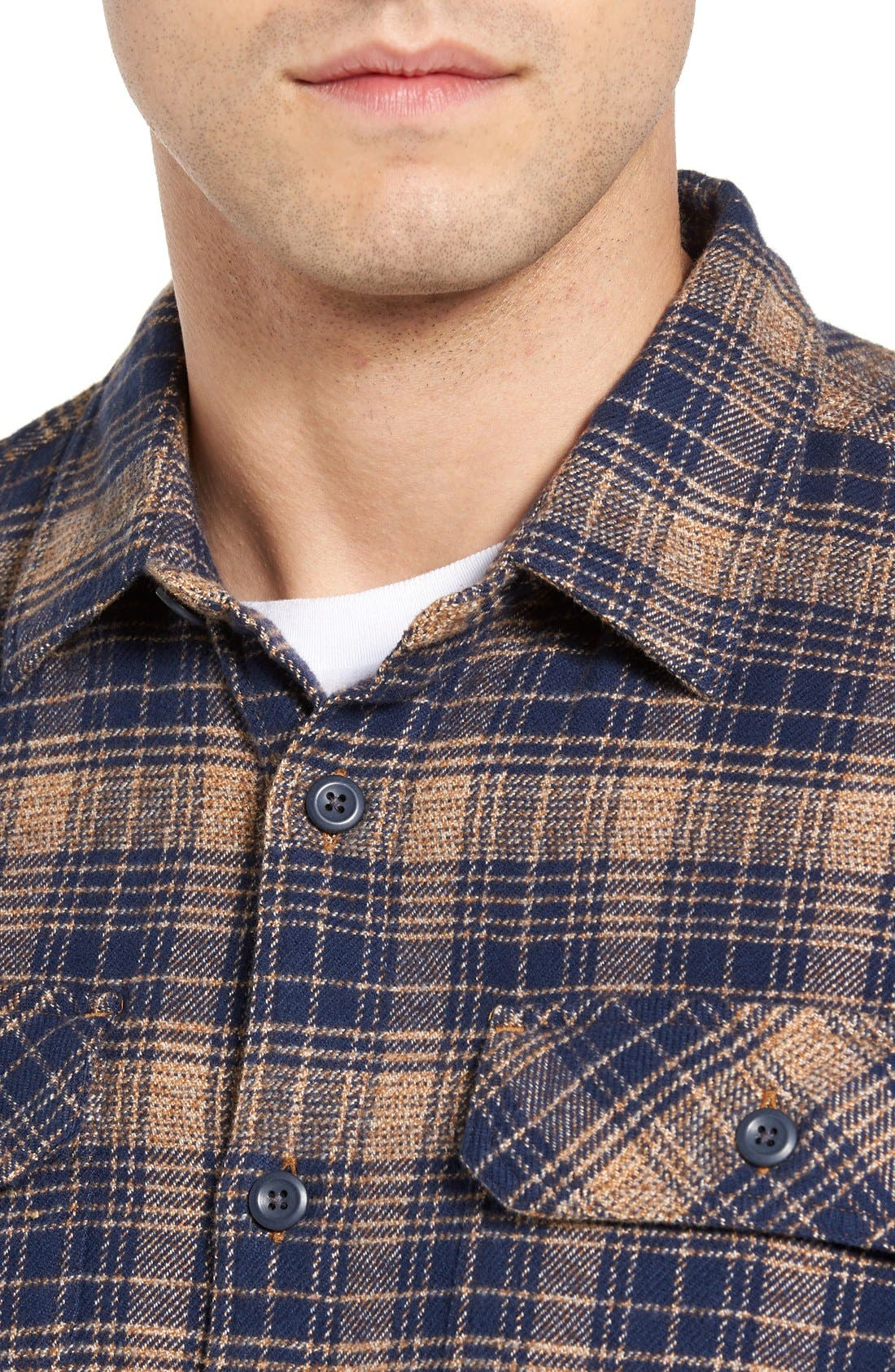,                             'Fjord' Regular Fit Organic Cotton Flannel Shirt,                             Main thumbnail 115, color,                             408