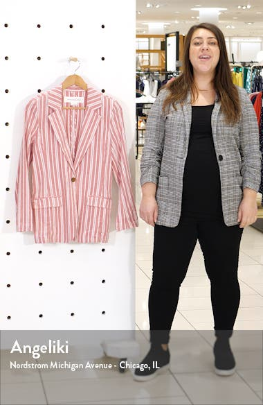 Stripe Relaxed Blazer, sales video thumbnail