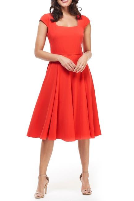 Image of Gal Meets Glam Regina Scoop Neck Fit & Flare Dress