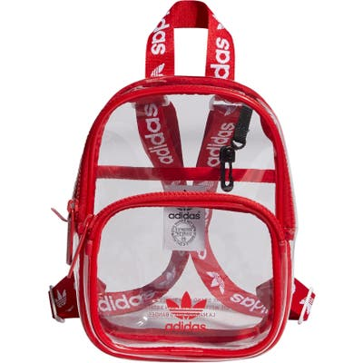 Adidas Originals Mini Clear Backpack - Red