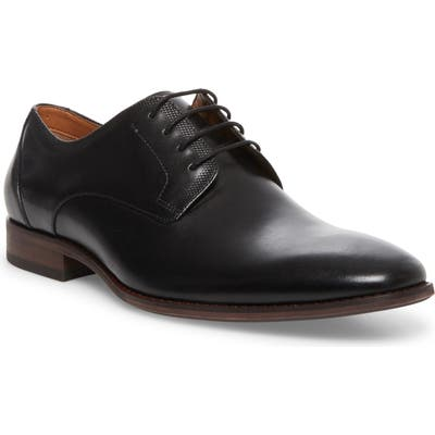 Steve Madden Dasher Plain Toe Derby, Black