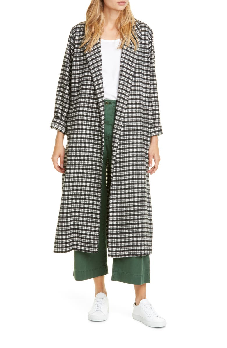 THE GREAT. The Yale Plaid Coat, Main, color, 001