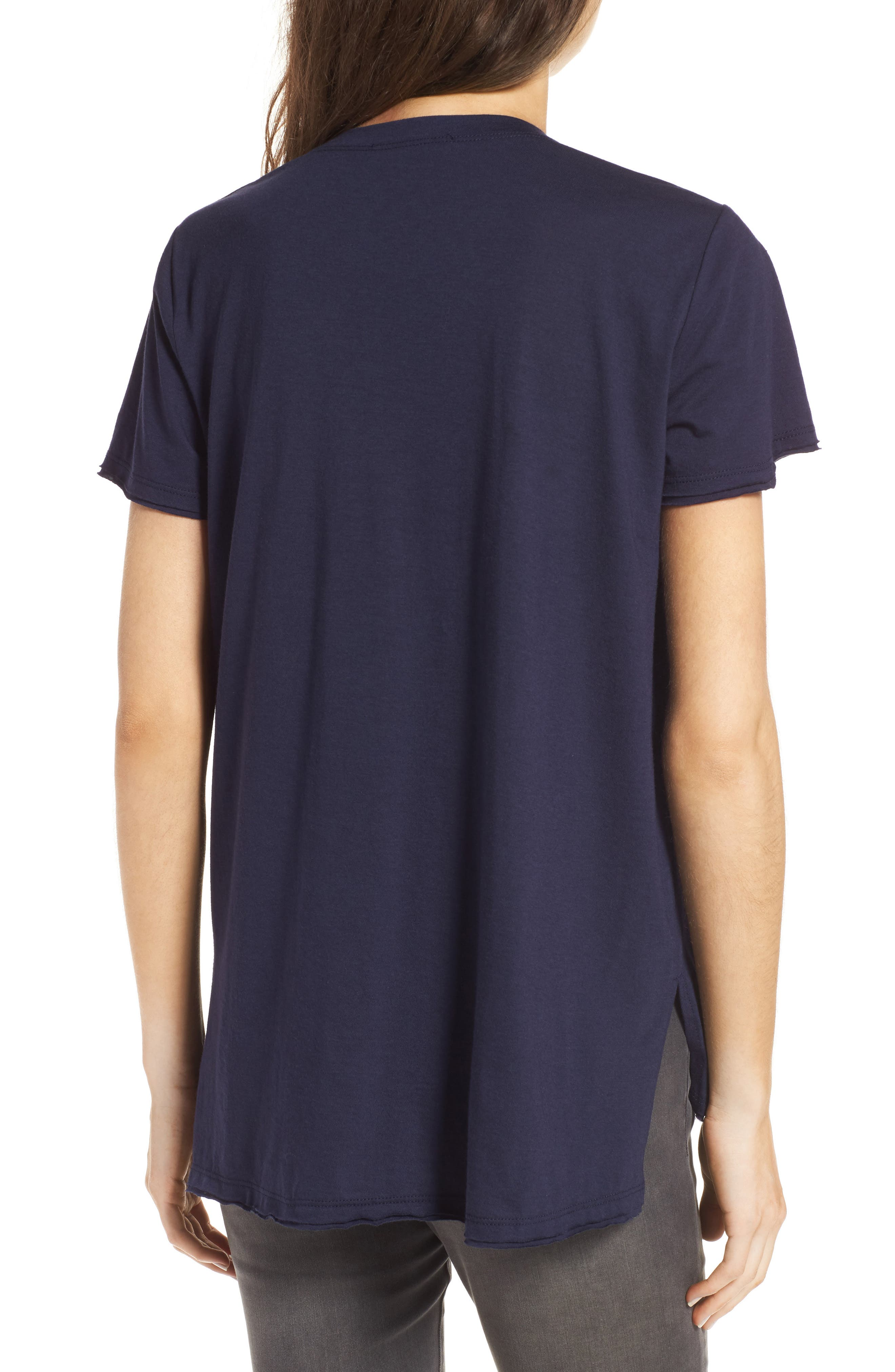 ,                             Raw Edge Side Slit Tee,                             Alternate thumbnail 37, color,                             406