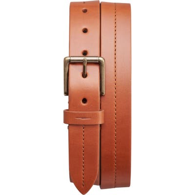 Shinola Leather Belt, Bourbon