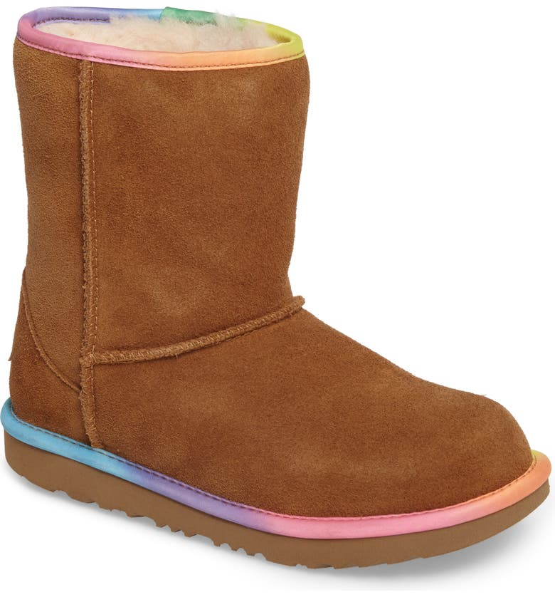 91957289546 Classic Short II Water-Resistant Genuine Shearling Rainbow Boot