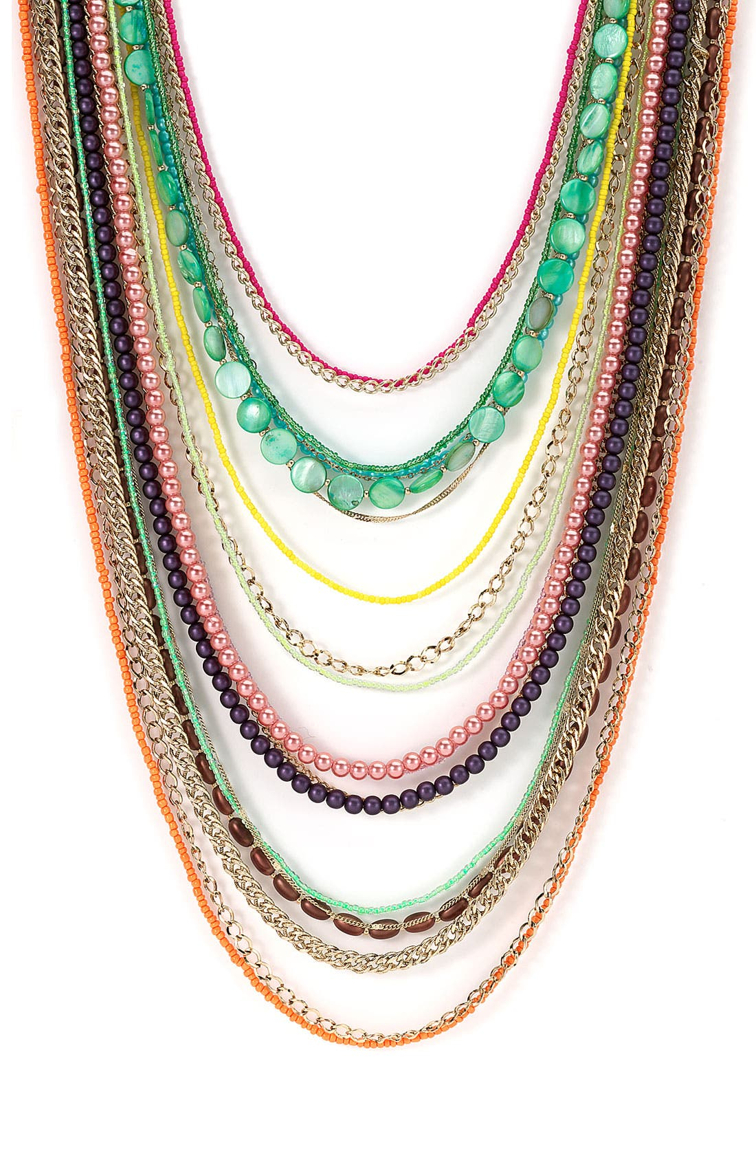 ,                             Beaded Long Multistrand Necklace,                             Main thumbnail 26, color,                             961
