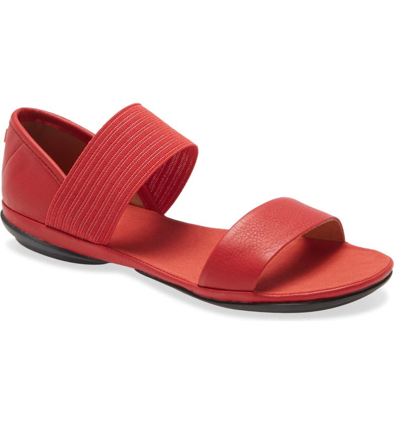CAMPER 'Right Nina' Sandal, Main, color, RED LEATHER