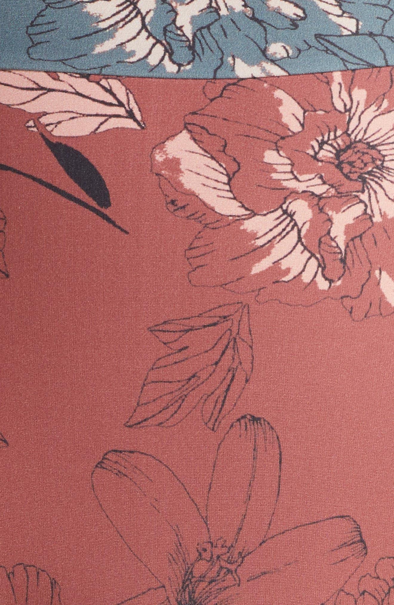 ,                             Pernille High Waist Bikini Bottoms,                             Alternate thumbnail 6, color,                             BERRY FLORAL