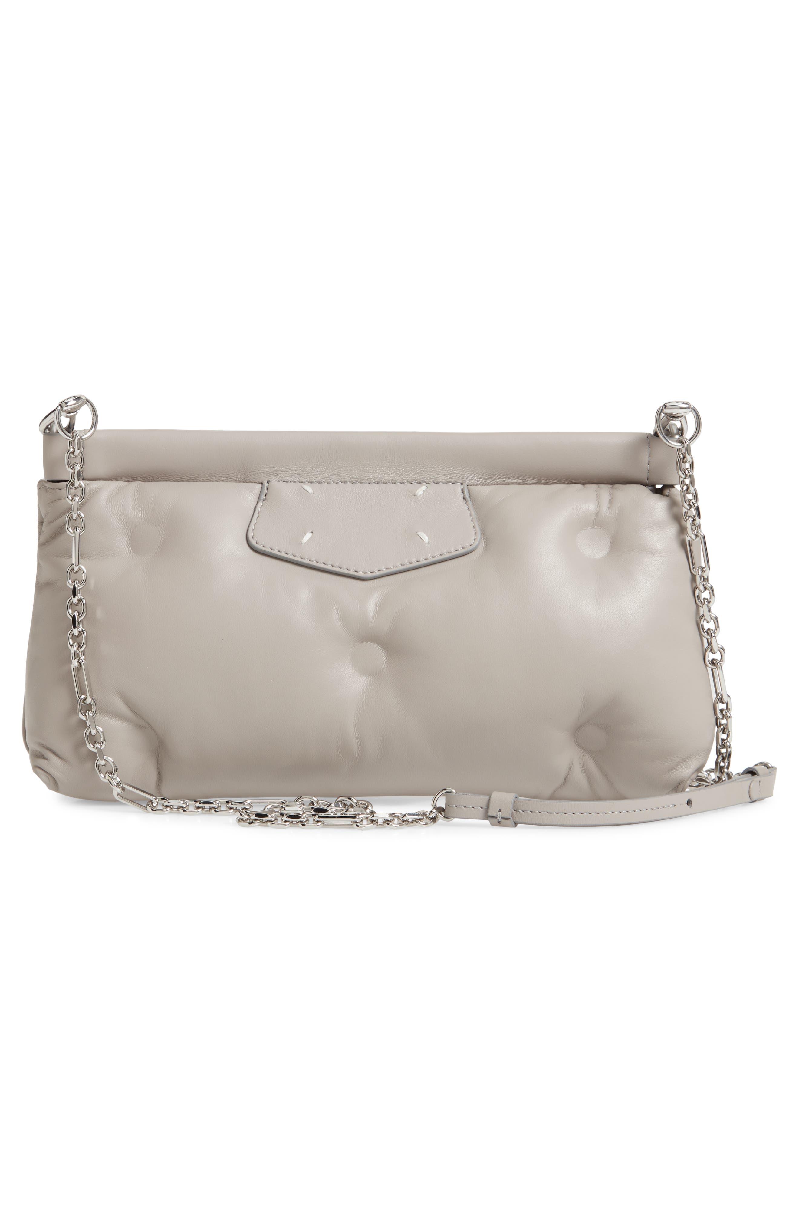 Maison Margiela Clutch Glam Slam Plush Leather Clutch