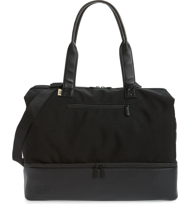 BÉIS Weekend Travel Tote, Main, color, BLACK