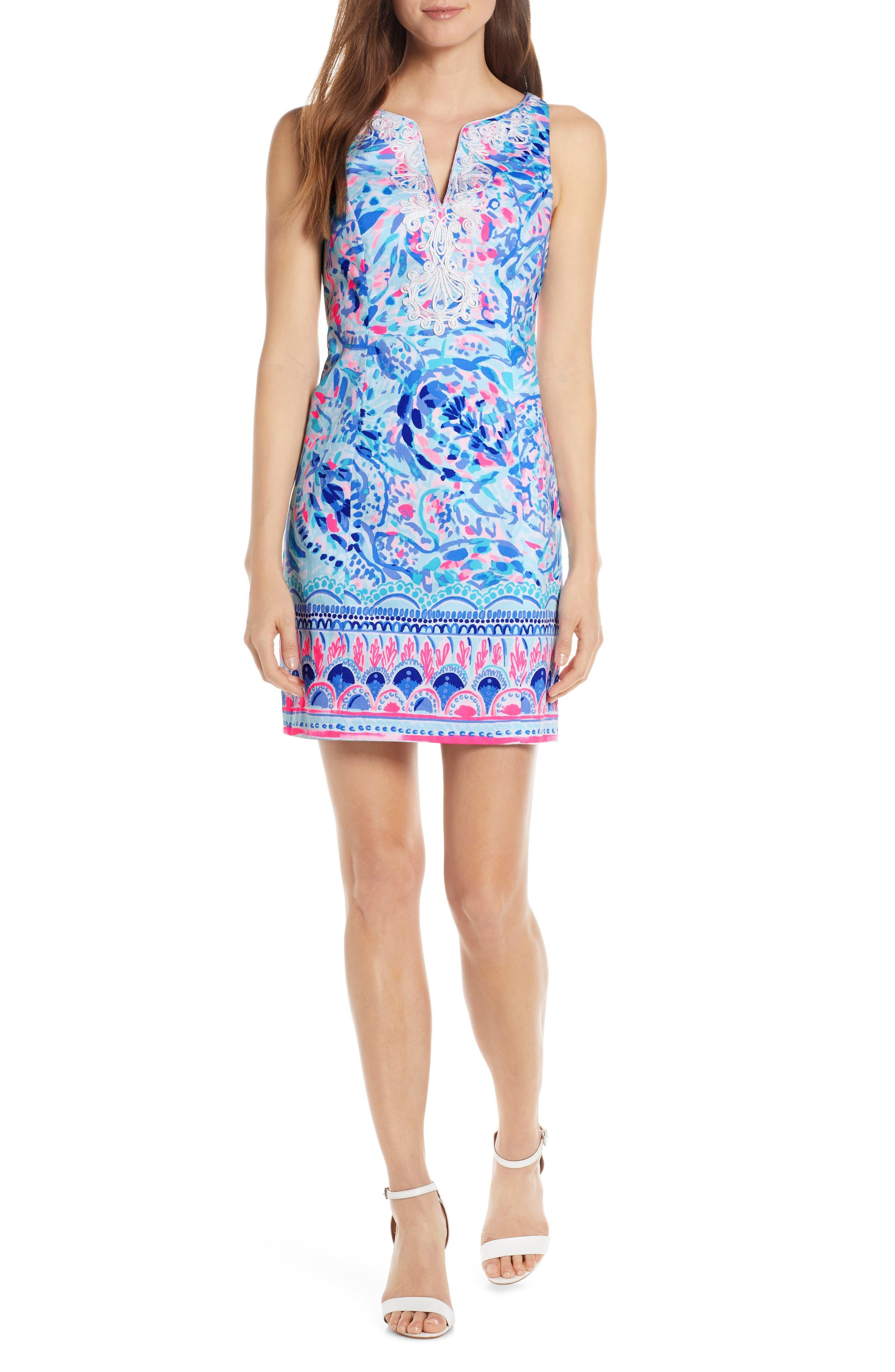 Lilly Pulitzer Gabby Print Sheath Dress, Blue