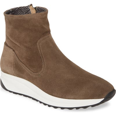 Aquatalia Betty Weatherproof Sneaker Bootie, Brown