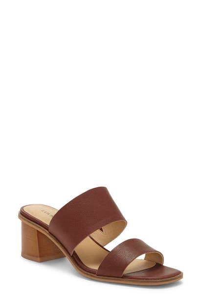 Lucky Brand Lalinna Slide Sandal In Ark Brown Leather