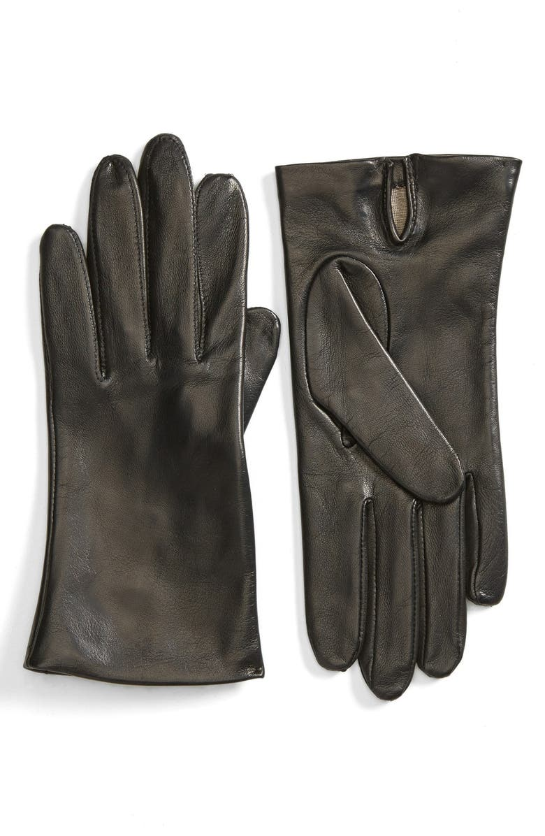FOWNES BROTHERS Short Leather Gloves, Main, color, 001