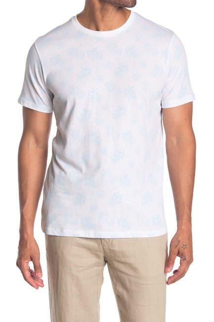 Image of Toscano Tropical Print Crewneck T-Shirt