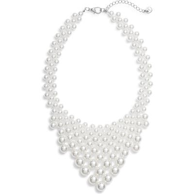 Knotty Imitation Pearl Necklace