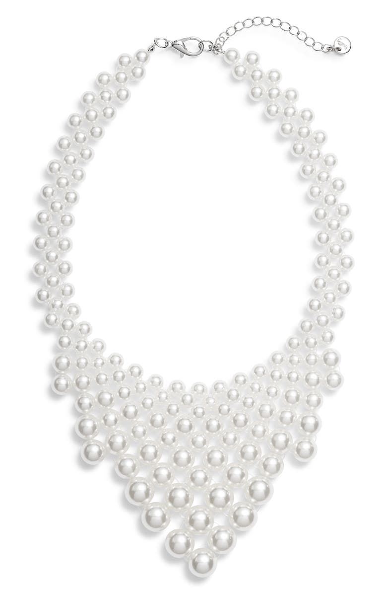 KNOTTY Imitation Pearl Necklace, Main, color, PEARL