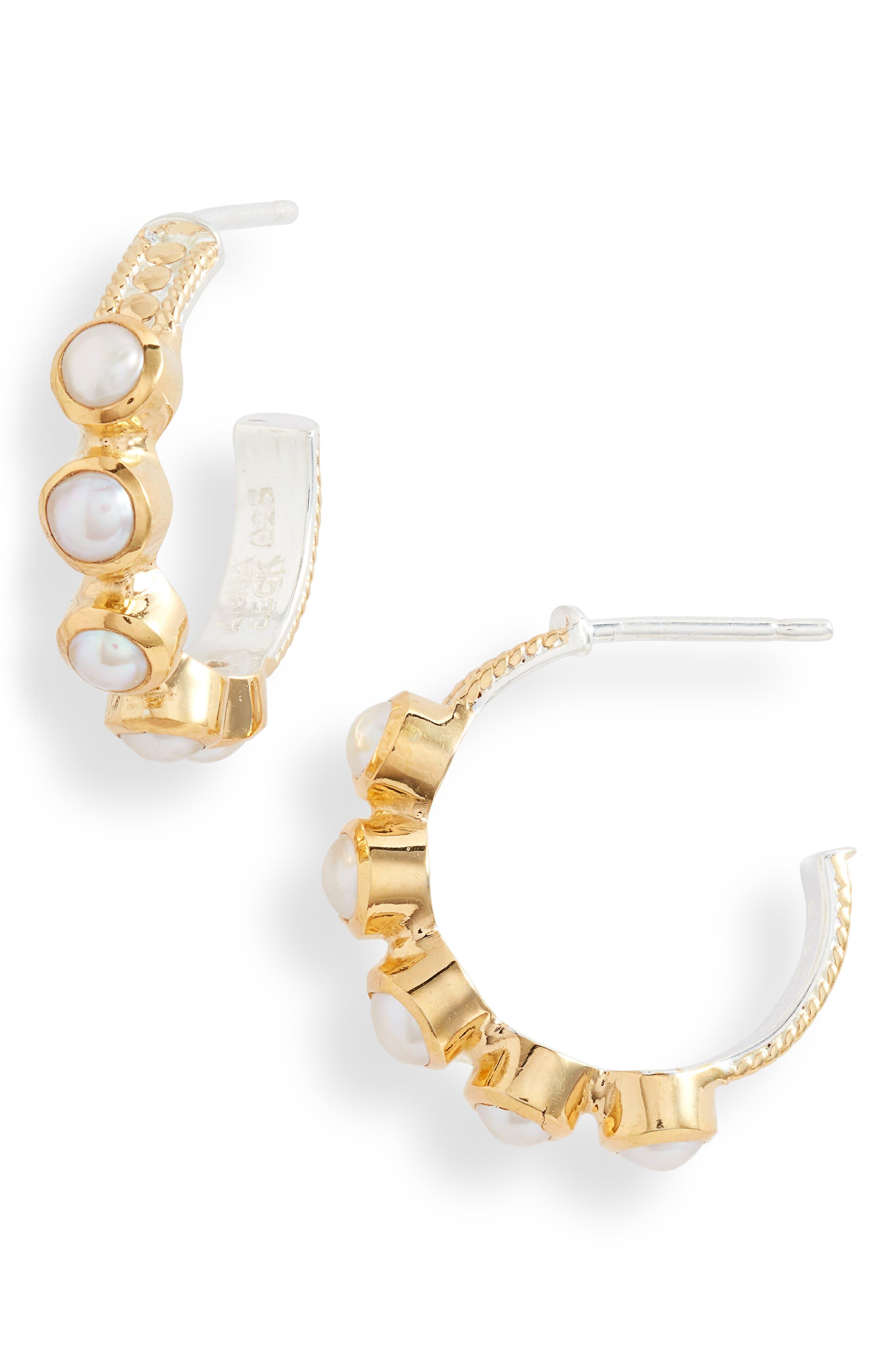 Genuine Pearl Hoop Earrings (Nordstrom Exclusive)