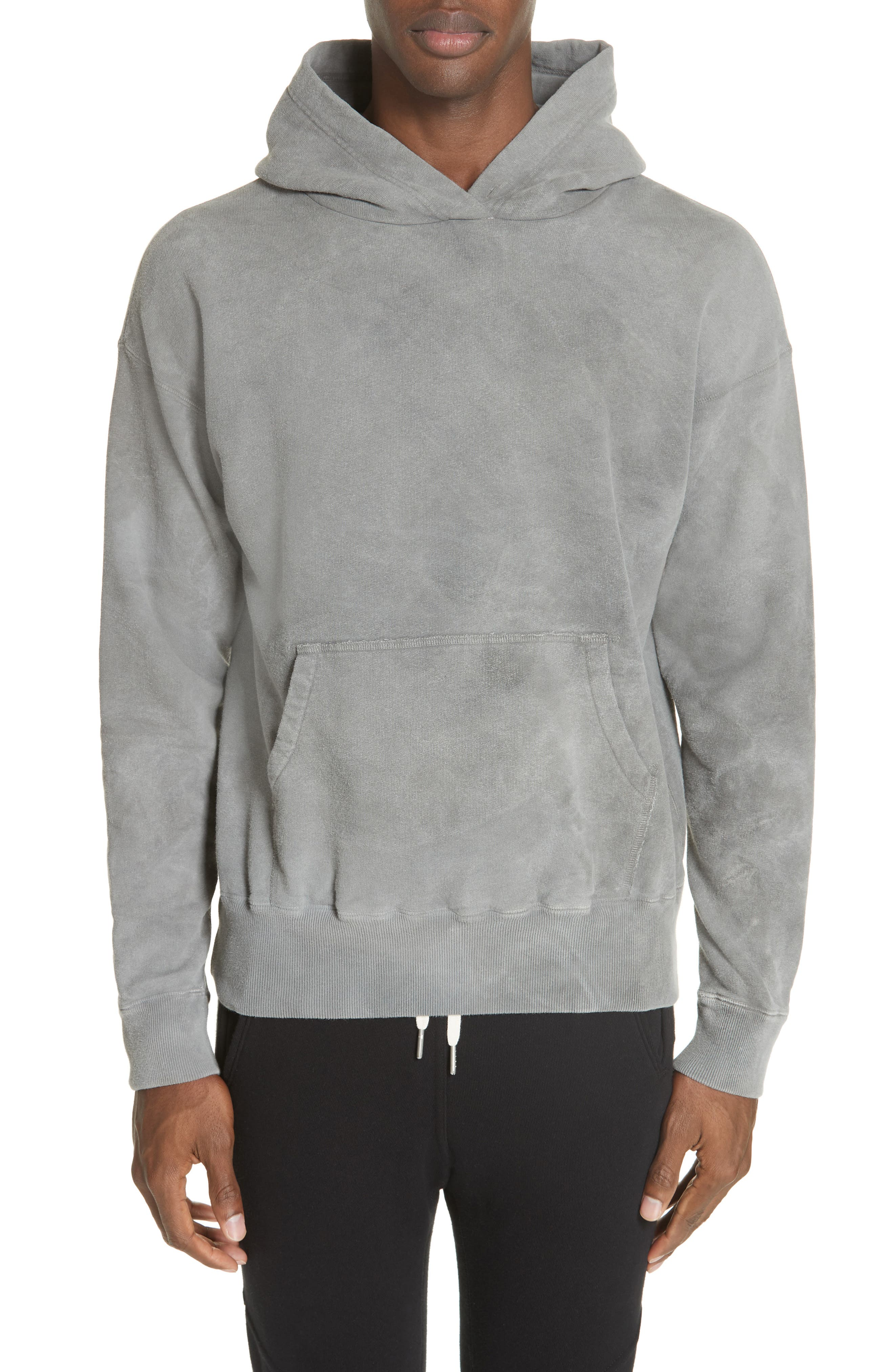 x Nordstrom Chrome Pullover Hoodie, Main, color, WASHED BLACK