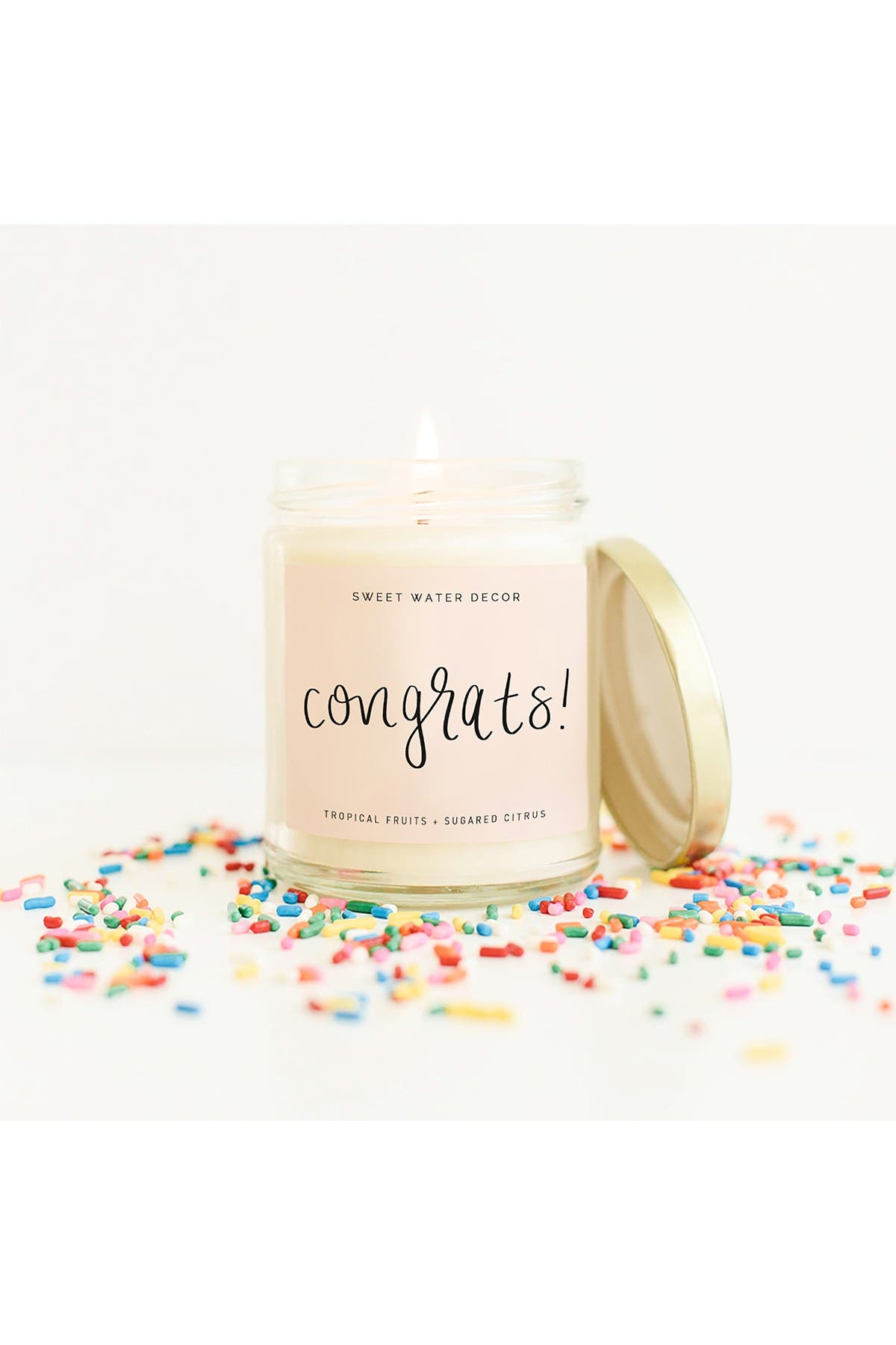 Image of SWEET WATER DECOR Congrats 9 oz. Soy Candle - Set of 2
