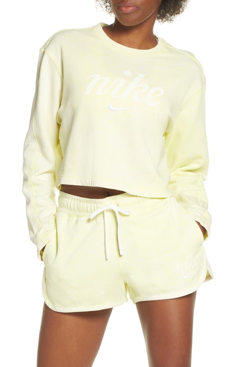 NIKE Sportswear Crop Sweatshirt, Main, color, 335