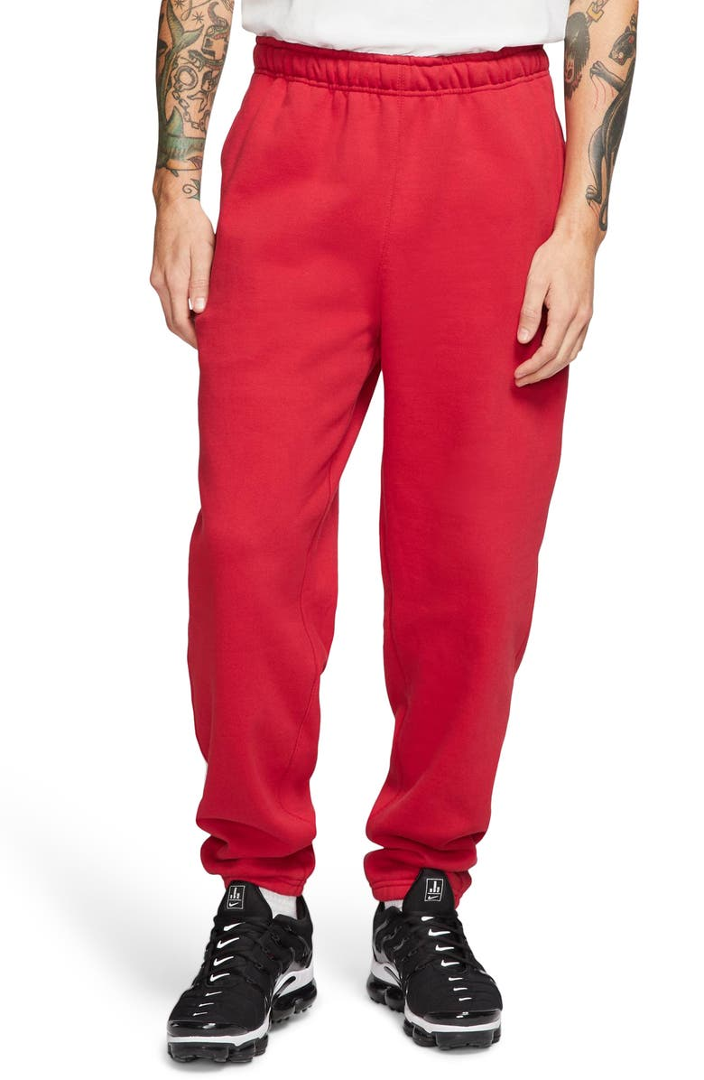 NIKE Men's Pants, Main, color, GYM RED