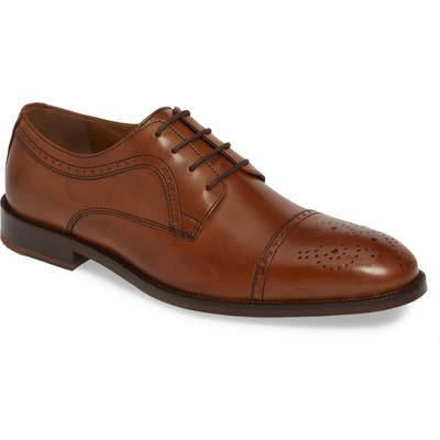 Johnston & Murphy Alredge Cap Toe Derby- Brown
