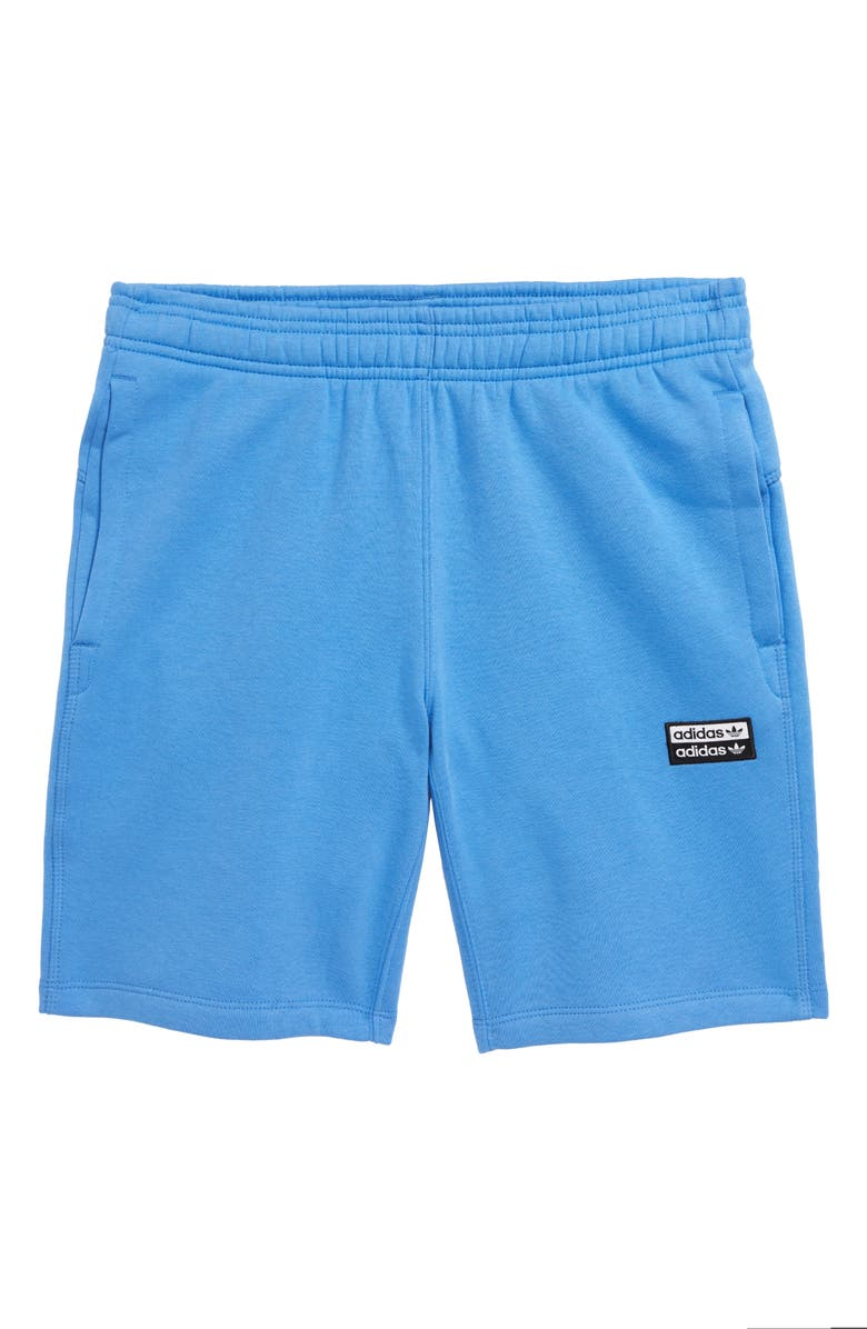 ADIDAS ORIGINALS R.Y.V. Fleece Shorts, Main, color, REAL BLUE