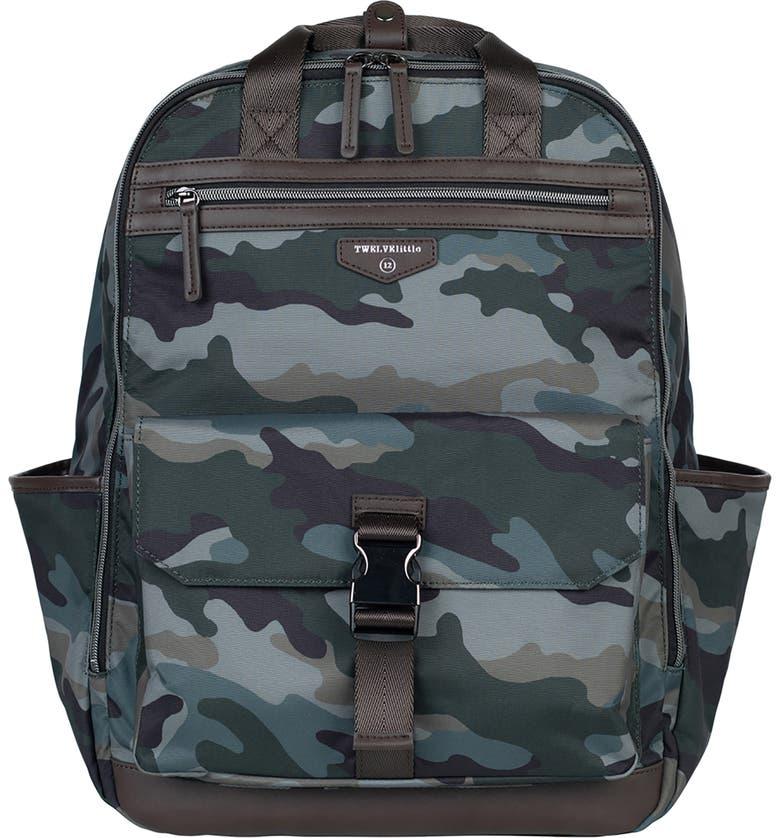 TWELVELITTLE 'Courage' Unisex Backpack Diaper Bag, Main, color, CAMO