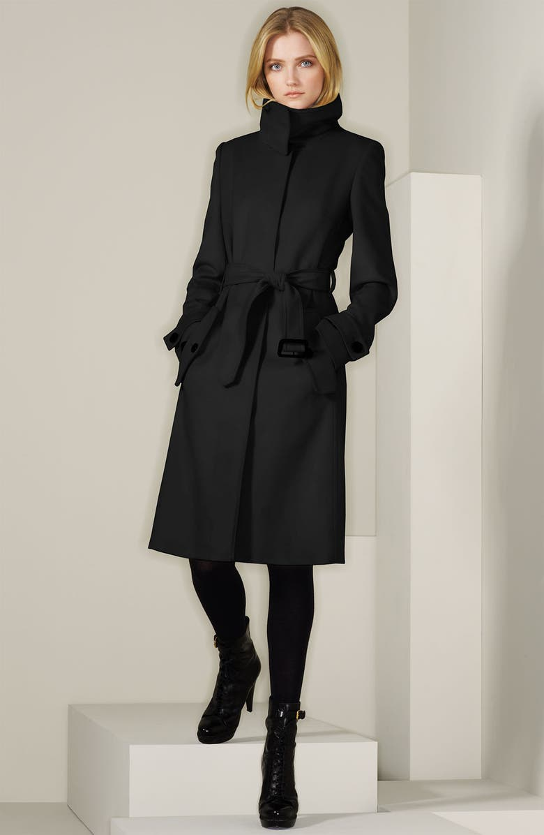 BURBERRY LONDON Wool & Cashmere Coat, Main, color, 001