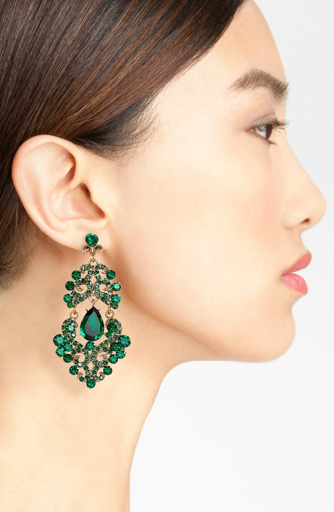 ,                             Ornate Chandelier Earrings,                             Alternate thumbnail 11, color,                             300