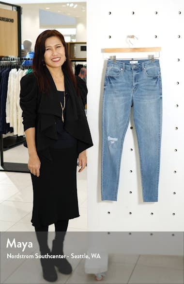 Real Lift Distressed High Waist Ankle Skinny Jeans, sales video thumbnail