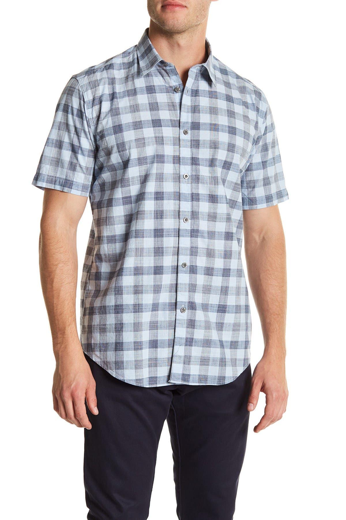 Image of COASTAORO Omar Check Short Sleeve Regular Fit Shirt