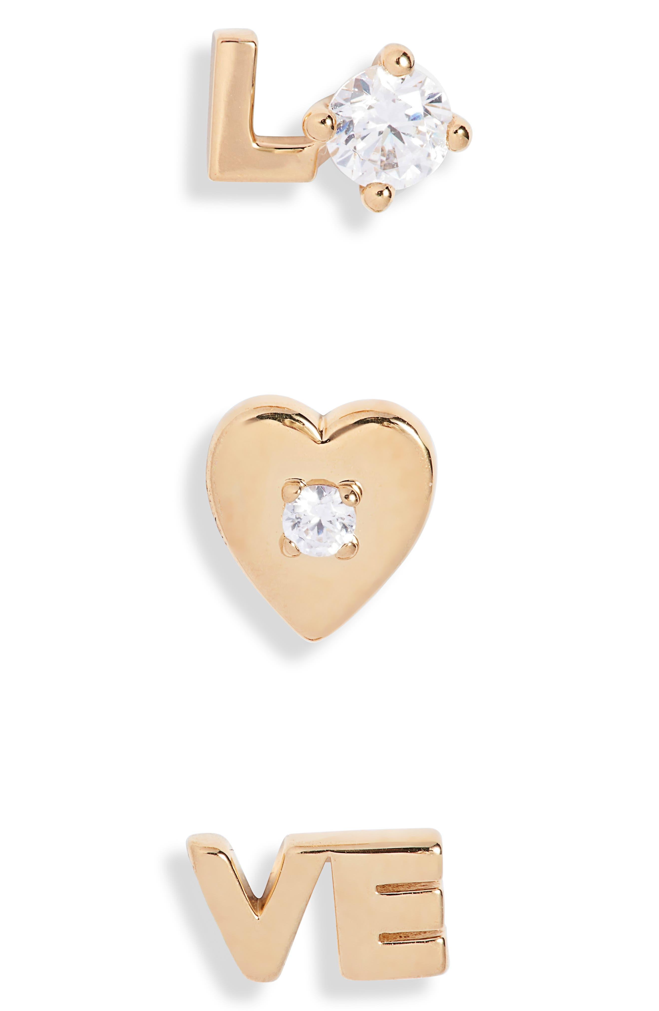 Slaybelles Love Set Of 3 Stud Earrings