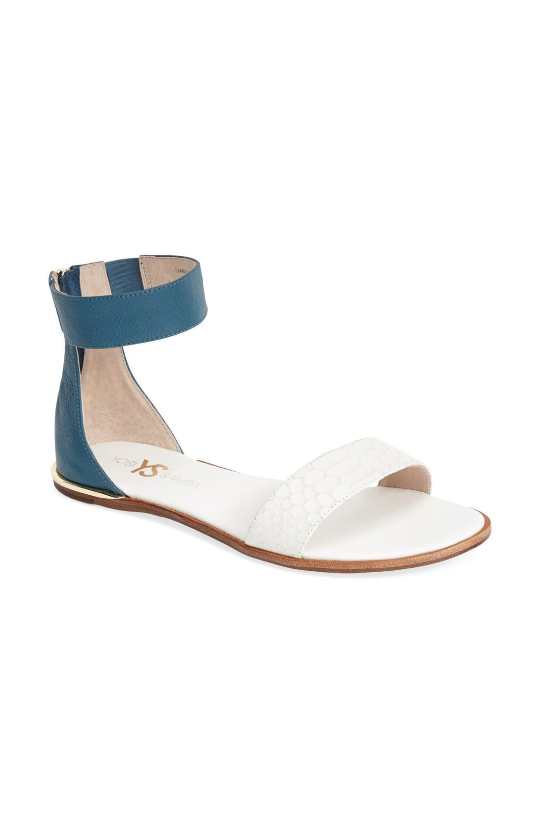 ,                             'Cambelle' Ankle Strap Sandal,                             Alternate thumbnail 19, color,                             103