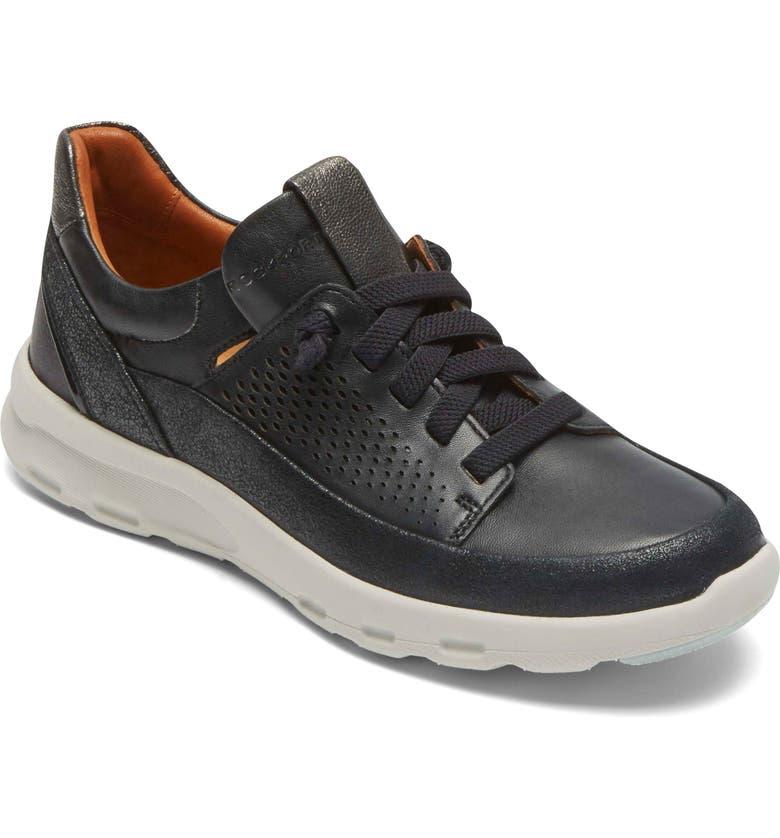 ROCKPORT COBB HILL Let's Walk Sneaker, Main, color, 001