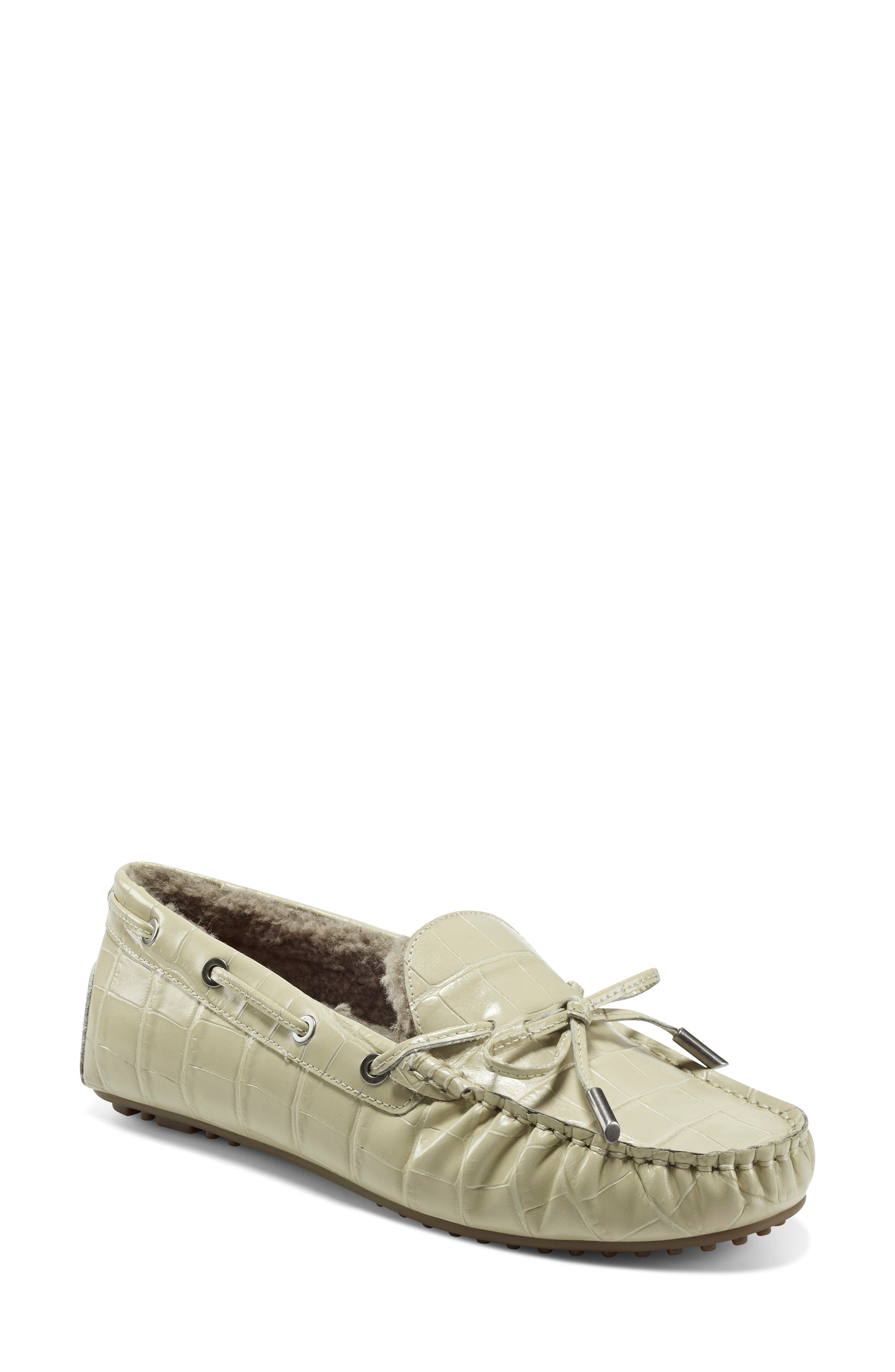 Faux Shearling Boater Driving Moccasin