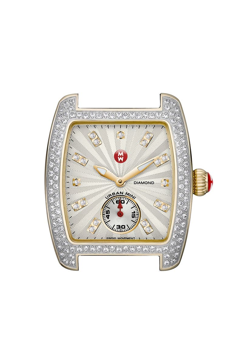 MICHELE 'Urban Mini Diamond' Two-Tone Watch Case & 16mm Bracelet, Main, color, 040